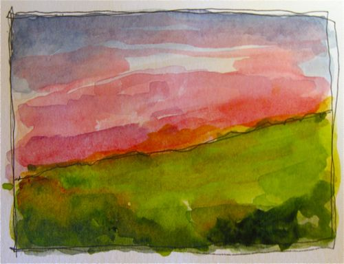 Watercolor Sample Landscape