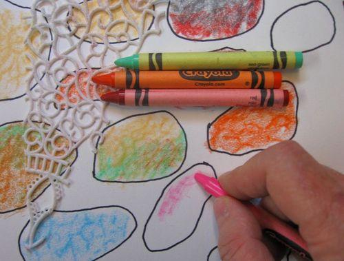 AJ Stones crayon rubbing