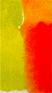 Watercolor Red Green