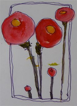 Poppies Diana Trout