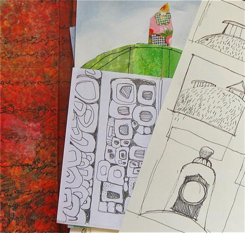 Sketches, Color, 4, DianaTrout,Dwellings