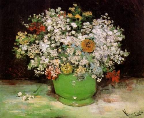 Van Gogh Zinnias