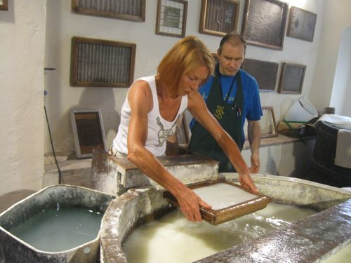 Papermaking knnitting