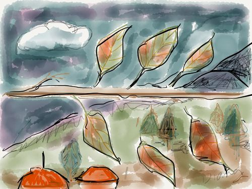 Leaves pages