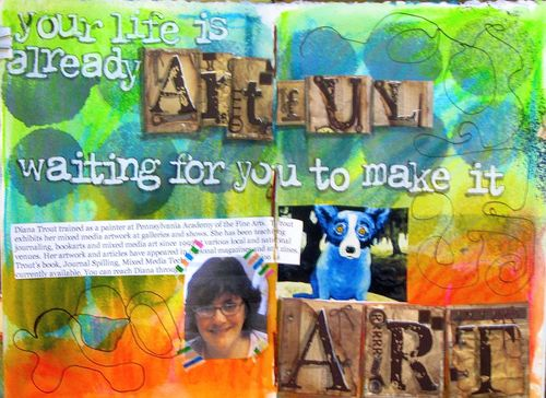 art journal, diana trout