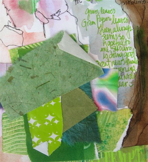 Collage Spill green