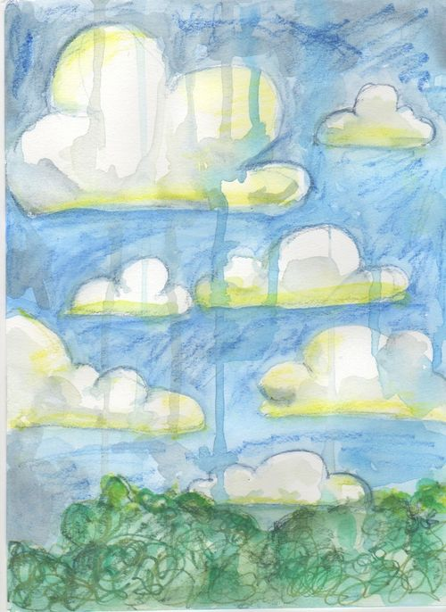 Clouds journal page c. DianaTrout