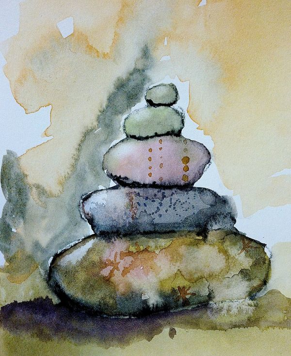 Cairn, Sketch, Diana Trout