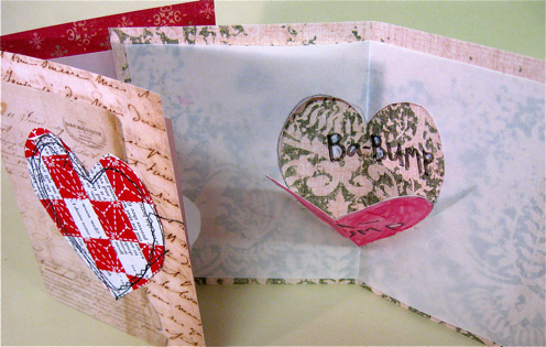 Woven Heart Pop Up Card, Diana Trout