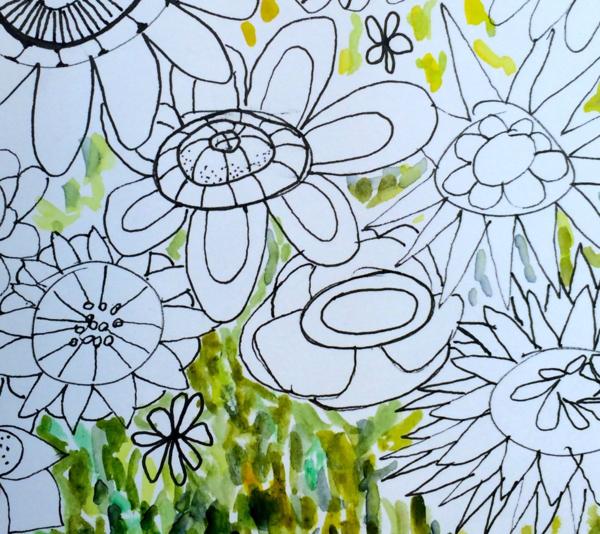 Doodle Flowers, Diana Trout