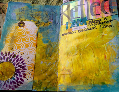 Reflect, Art Journal, DTrout