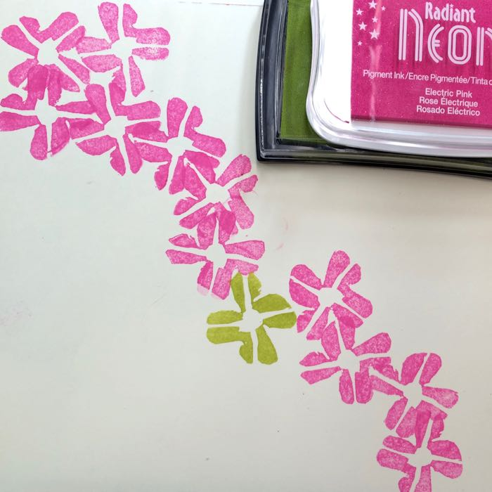 Clover stamps a bunch