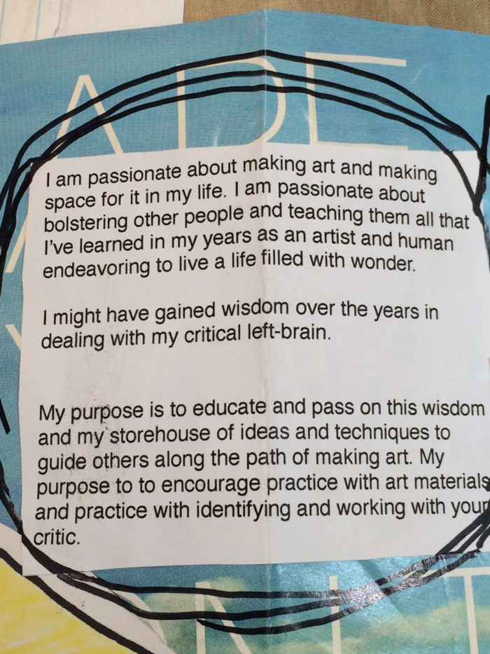Mission Statement, Diana Trout
