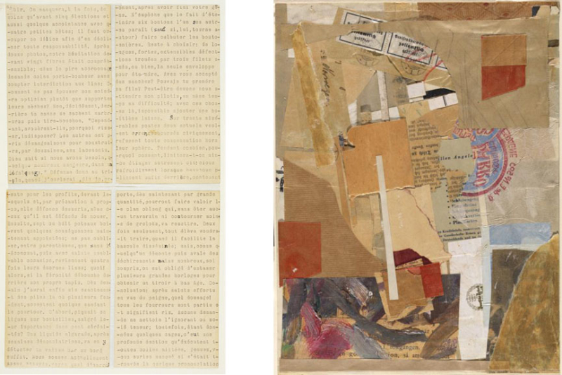 Left-Marcel-Duchamp-Rendezvous-of-Sunday-February-6-1916-Rendez-vous-du-Dimanche-6-Février-1916-Right-Kurt-Schwitters-Opened-by-Customs-1937-8