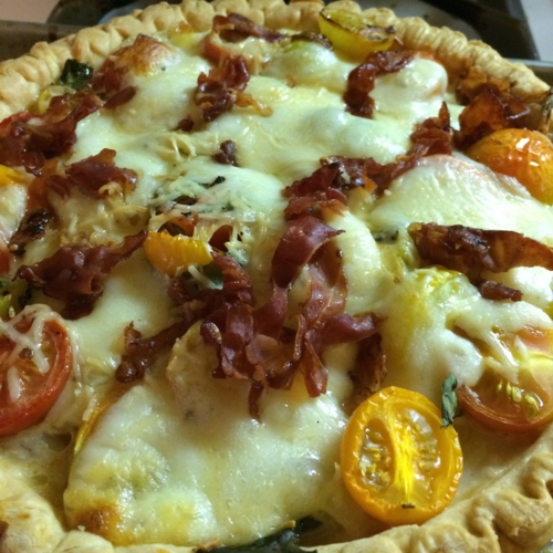 Caprese Pie via Jackie