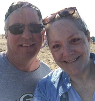 Jon and Me on the beach