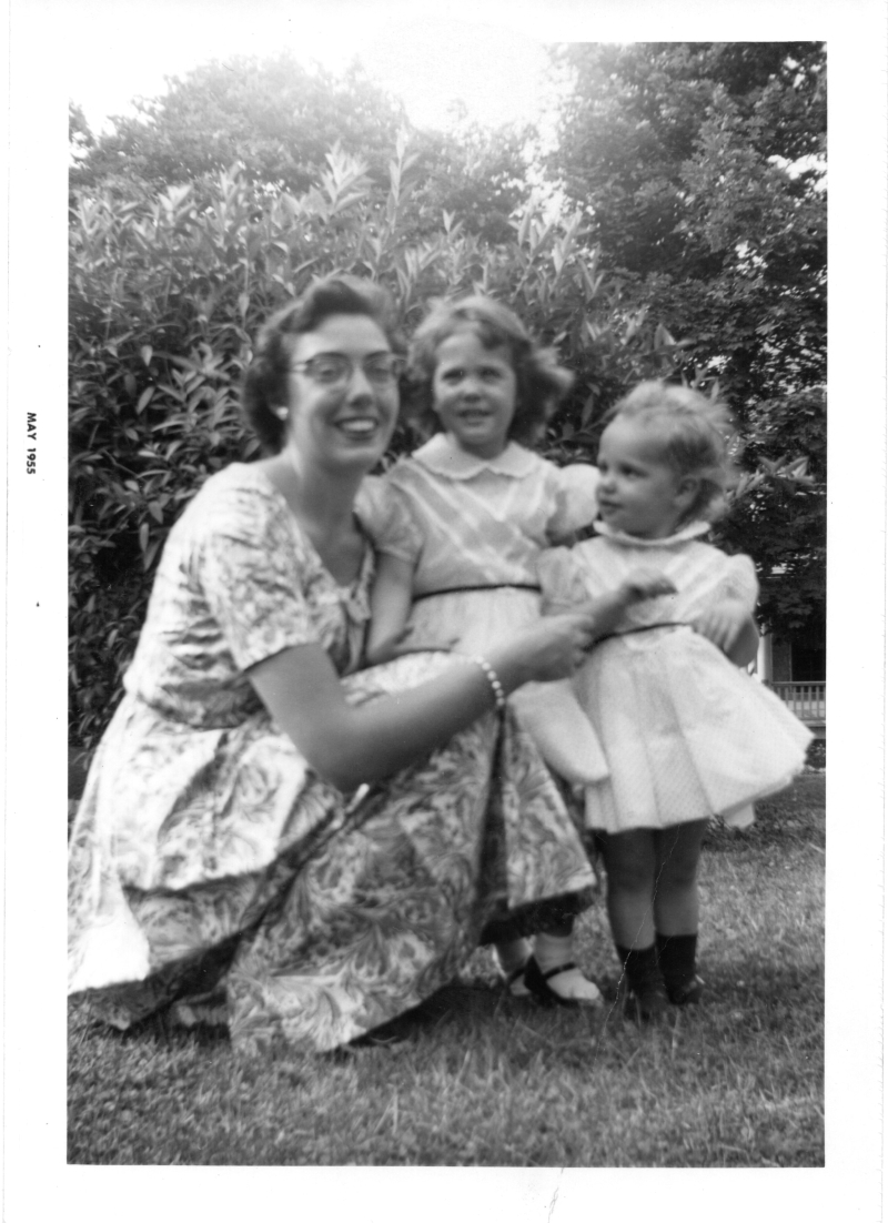 Aunt Betty  Chris  & Amy in May 1955