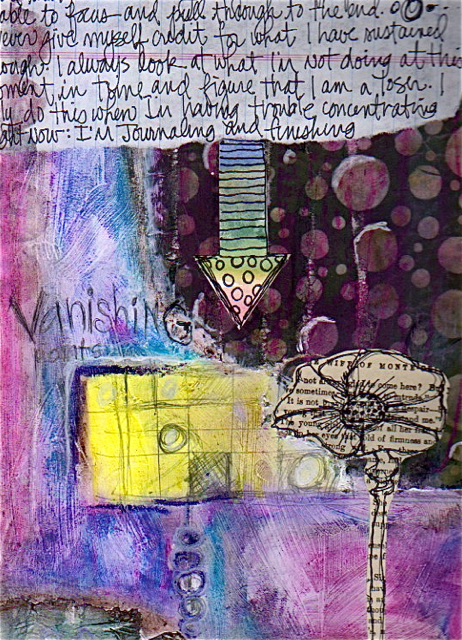 Journal page vanishing point